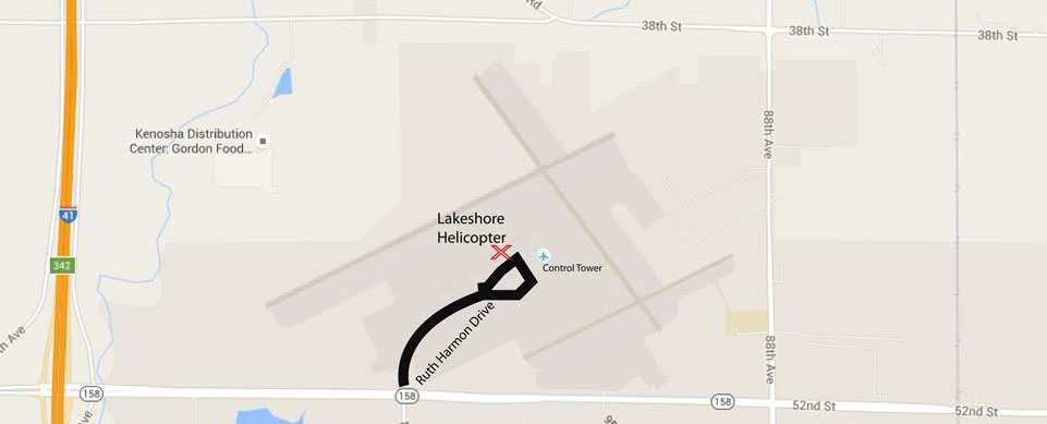 Map to Lakeshore Helicopter